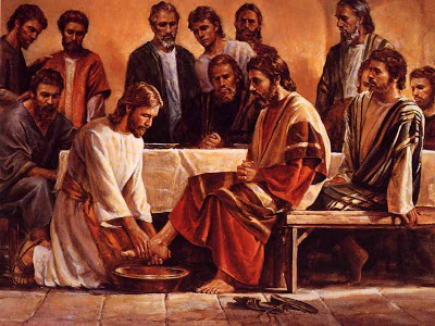 Image result for Who was the greatest: He who made the worlds or He who washed His disciples feet?